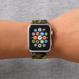 Moss Green Military Camo Apple Watch Band
