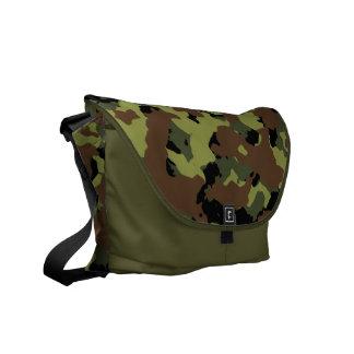 Moss Green Military Camo Courier Bag