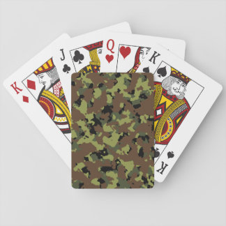 Moss Green Military Camo Playing Cards