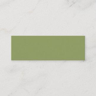 Moss Green Mini Business Card