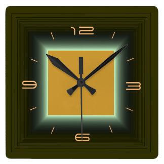 Moss Green/Yellow Orange>Wall Clock