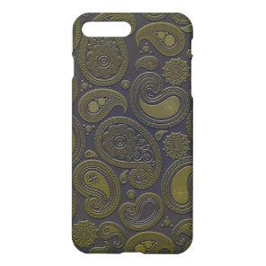 Moss green yellow paisley on deep burgandy iPhone 8 plus/7 plus case