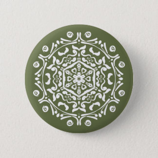 Moss Mandala Button