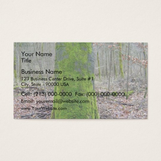 Moss on a Tree Trunk Business Card
