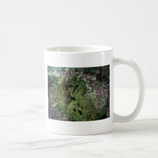 Moss on fallen redwood coffee mug