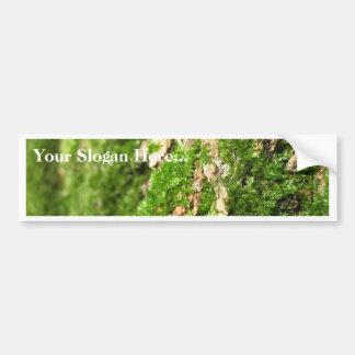 Moss On The Tree Bark Car Bumper Sticker