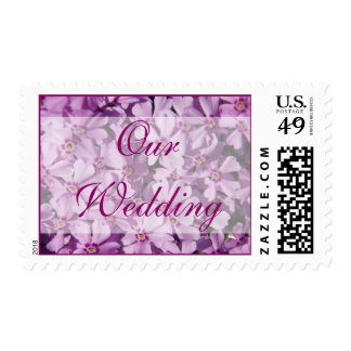 "Moss Phlox • ""Our Wedding"" Stamp"
