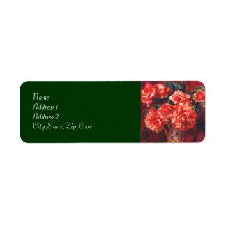 Moss Roses by Renoir Return Address Label