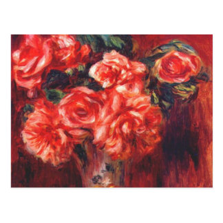 Moss Roses by Renoir Postcards