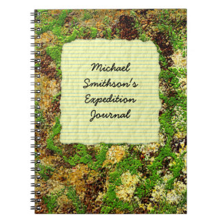 Moss Rust Aged Grunge Old Camouflage Texture Notebook