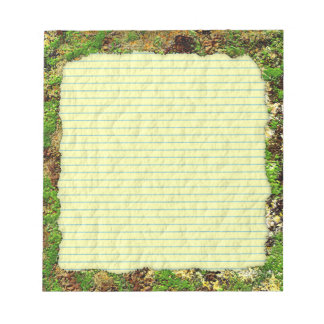 Moss Rust Aged Grunge Old Camouflage Texture Note Pad