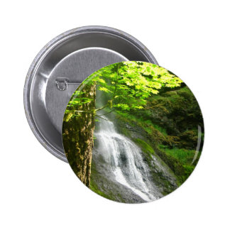 Moss Slope Falls Pinback Button