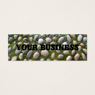 Moss, stones and flowers mini business card