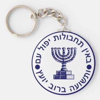 Mossad (הַמוֹסָד) Logo Seal Keychain