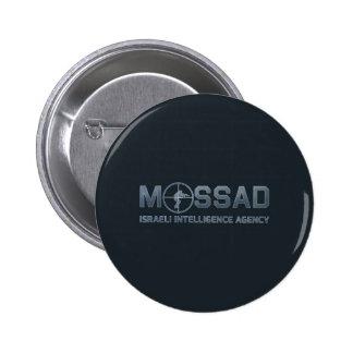 Mossad - agencia de inteligencia israelí - alcance pin redondo de 2 pulgadas