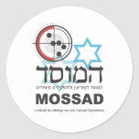 Mossad, la inteligencia israelí pegatina redonda