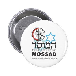 Mossad, la inteligencia israelí pin redondo de 2 pulgadas