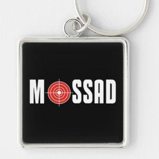 Mossad Llavero Cuadrado Plateado
