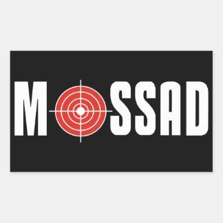 Mossad Pegatina Rectangular