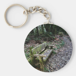 Mossy Bench Nature Trail in Olympic National Park Keychain