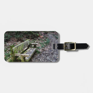 Mossy Bench Nature Trail in Olympic National Park Luggage Tag