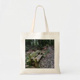 Mossy Bench Nature Trail in Olympic National Park Tote Bag