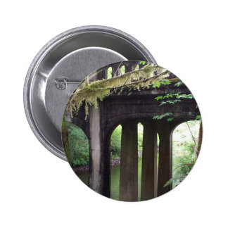 Mossy Bridge over the Sol Duc River Pinback Button