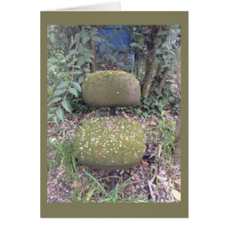 Mossy Chair With Blossoms Card