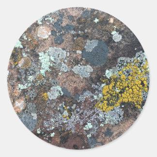 mossy classic round sticker