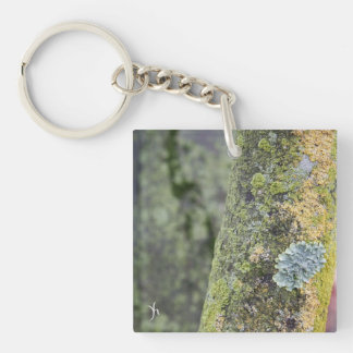 Mossy Double-Sided Square Acrylic Keychain