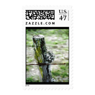 Mossy Fence Post Postage