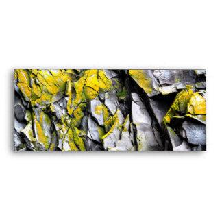 Mossy grey rocks photo envelope