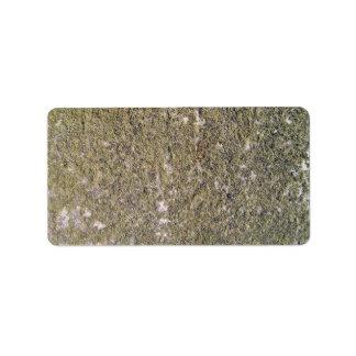 Mossy ground background address label