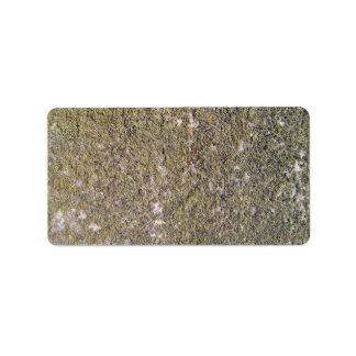 Mossy ground texture address label