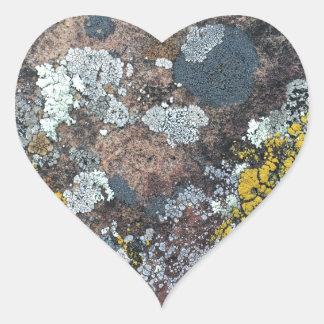 mossy heart sticker
