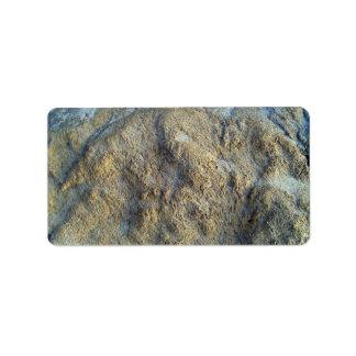 Mossy limestones texture address label