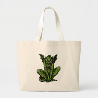 Mossy Little Green Goblin Man Large Tote Bag