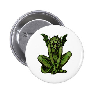 Mossy Little Green Goblin Man Pinback Button