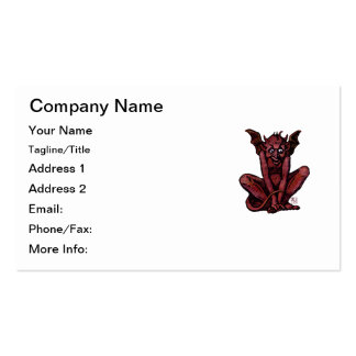 Mossy Little Red Goblin Man Business Card