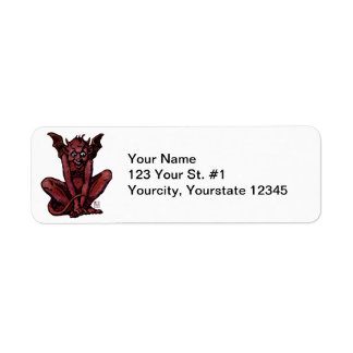 Mossy Little Red Goblin Man Label