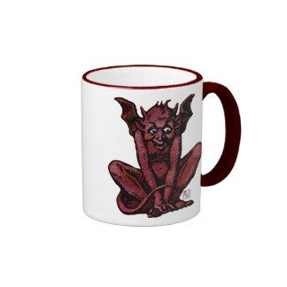 Mossy Little Red Goblin Man Ringer Coffee Mug