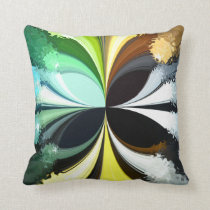 Mossy Moth Throw Pillow