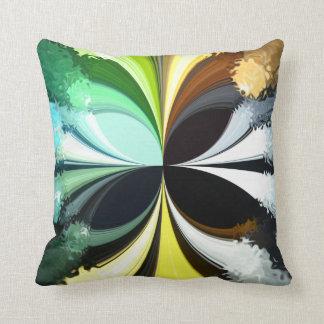 Mossy Moth Throw Pillow