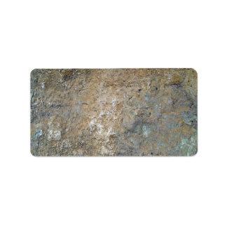 Mossy mountain wall address label