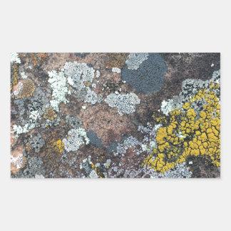 mossy rectangular sticker