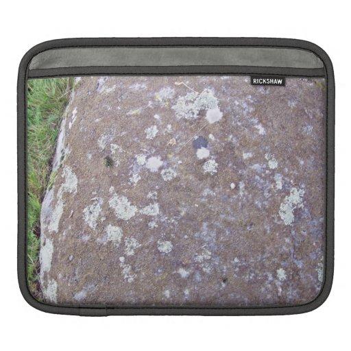 Mossy Rock on a Grassy Landscape iPad Sleeve