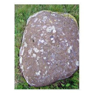 Mossy Rock on a Grassy Landscape Postcard