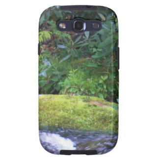 mossy rock on mountain stream galaxy s3 cases