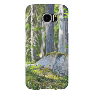 Mossy Rocks And Trees Samsung Galaxy S6 Cases