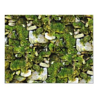 Mossy Rocks Background 4.25x5.5 Paper Invitation Card